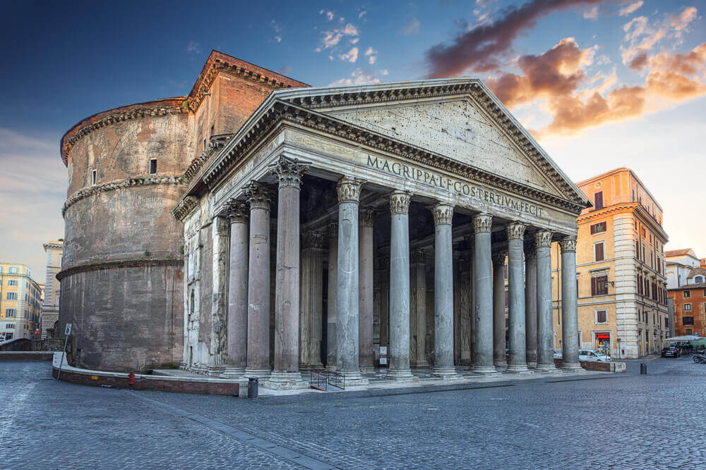 Pantheon in the morning. Rome. Italy