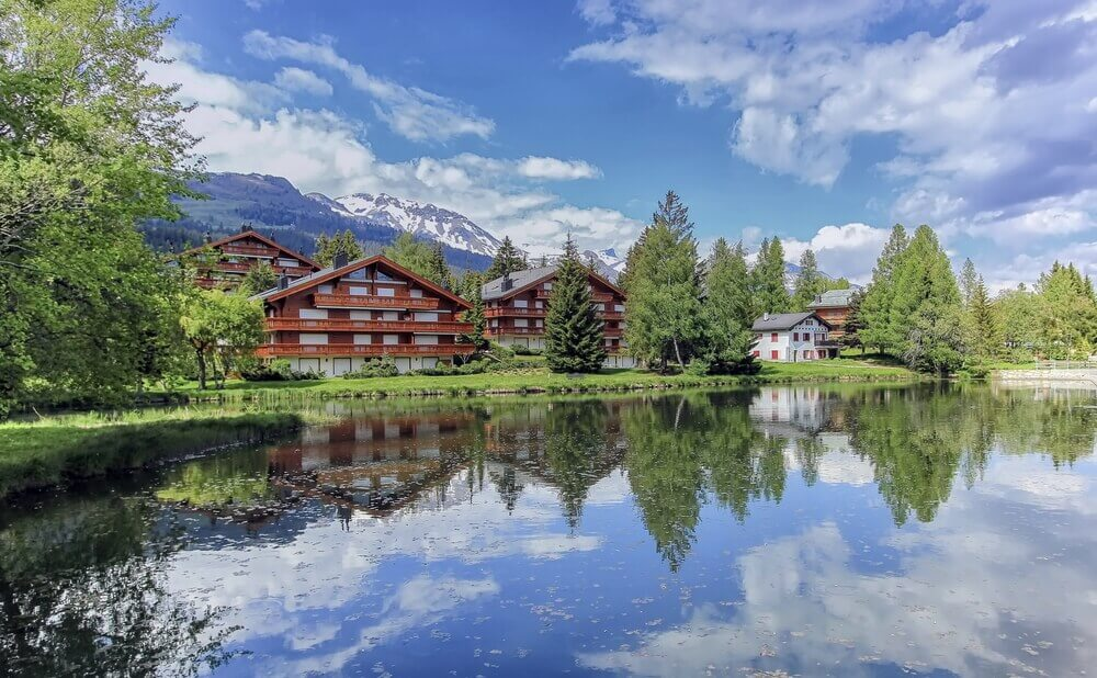 #CransMontana #Switzerland #village