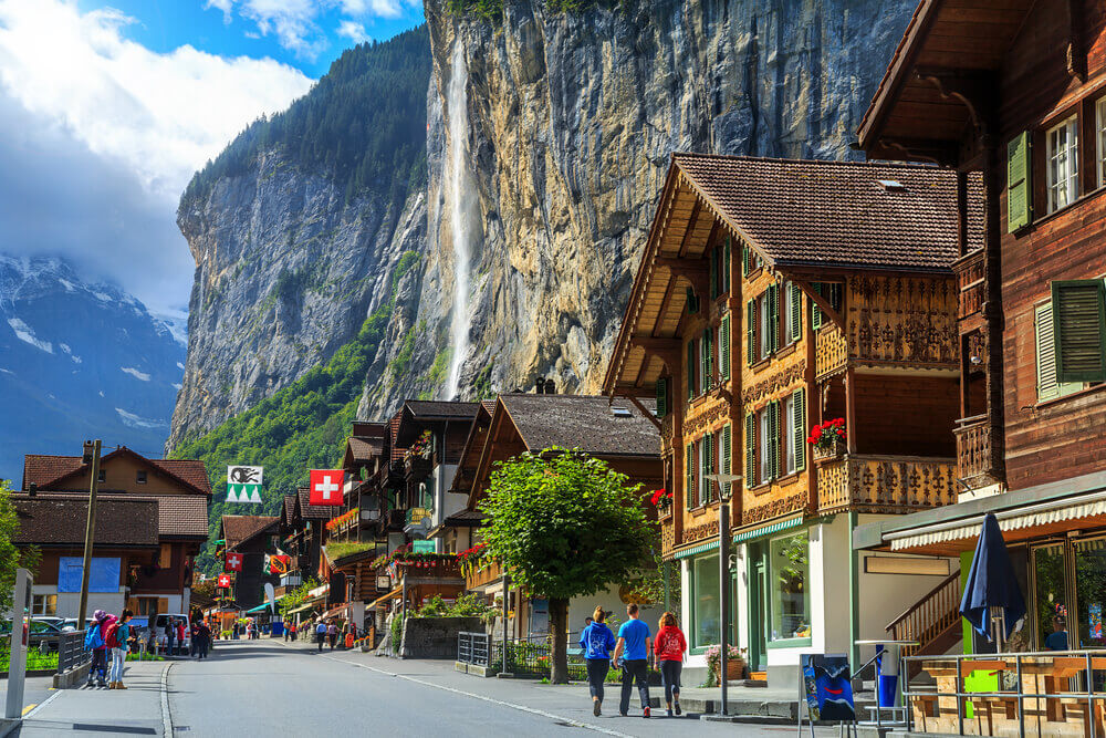 #Lauterbrunnen #Switzerland #village