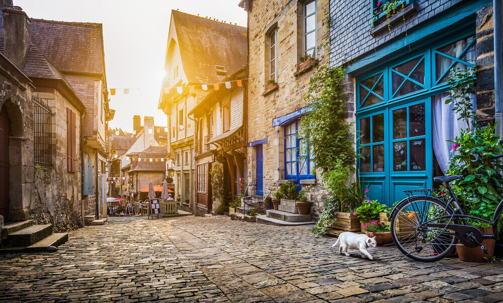 Panoramic view of old town in Europe. Hipster Cities in Europe