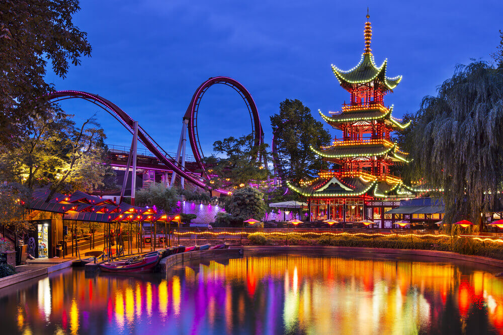 Tivoli Park - best theme parks in Europe