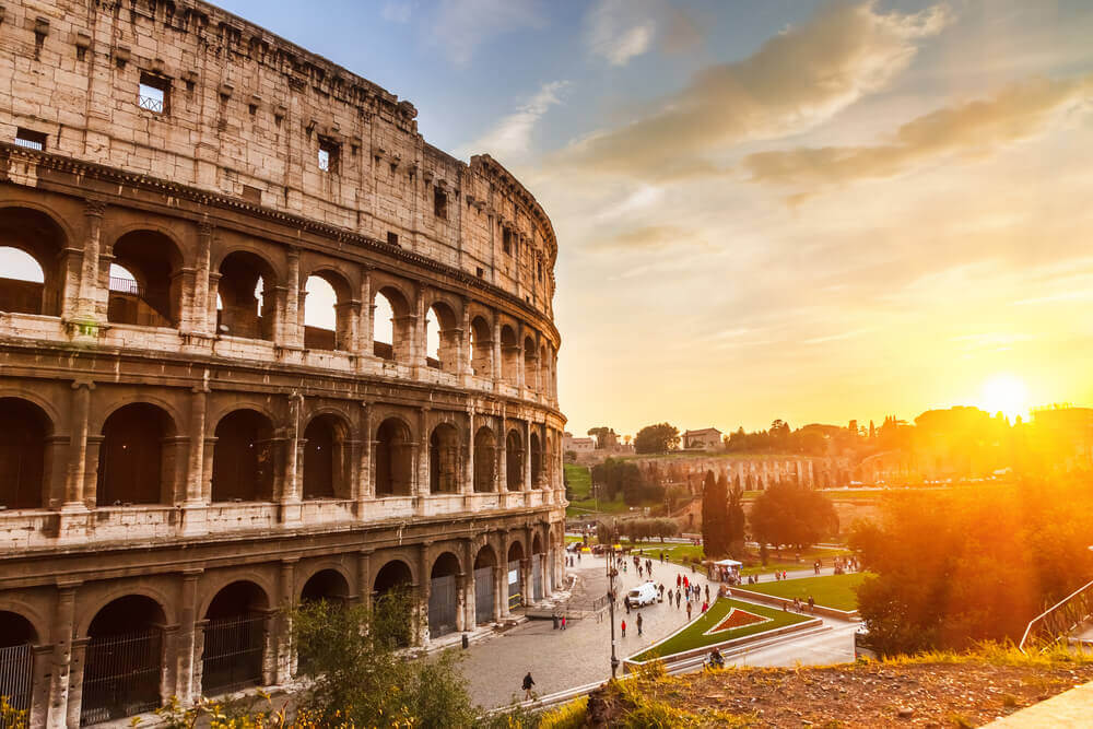 The Colosseum of Rome in Italy