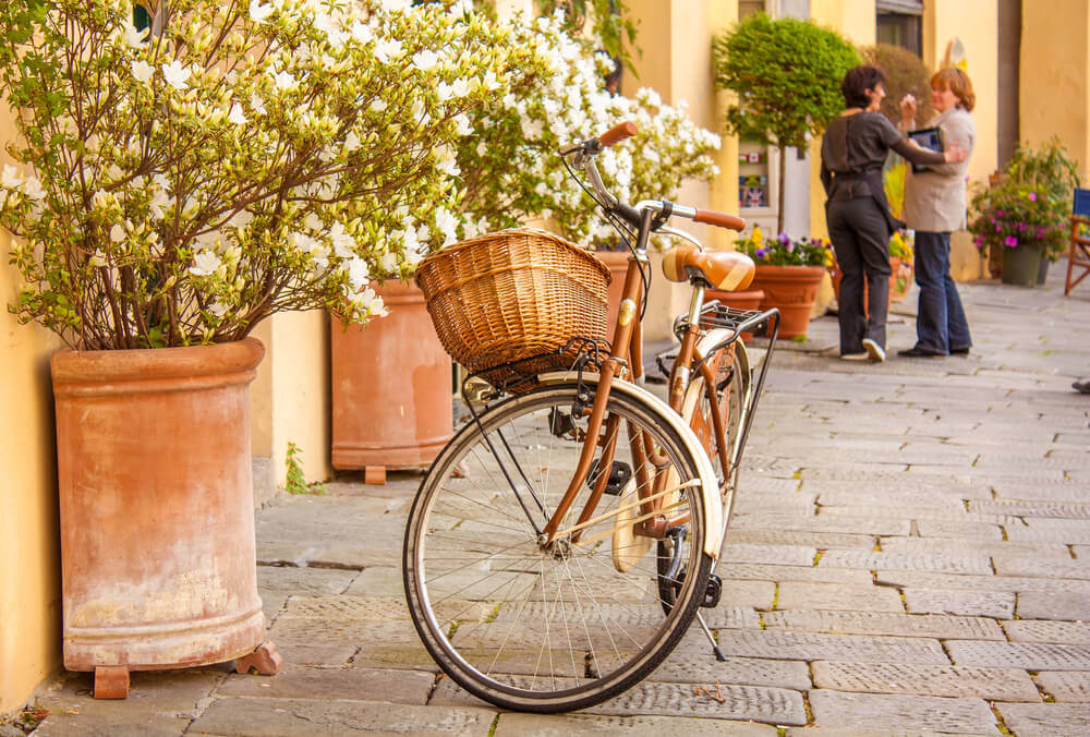 Lucca street in Italy
