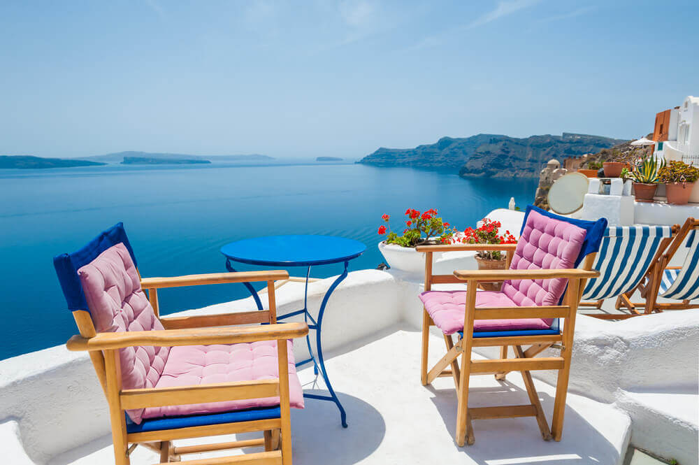 Sitting on the porch in Greece