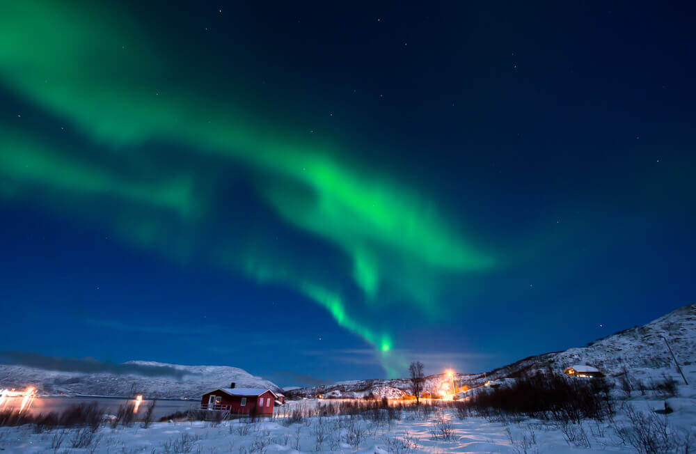 #Tromso #Norway #village #northernlights