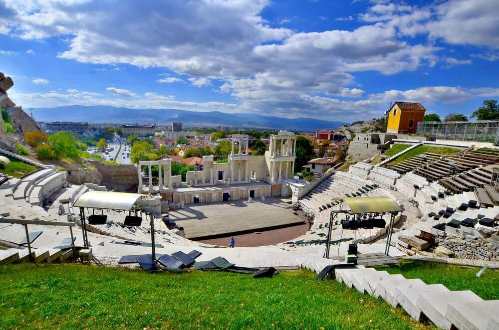 Roman theatre of Philippopolis, Plovdiv, Bulgaria