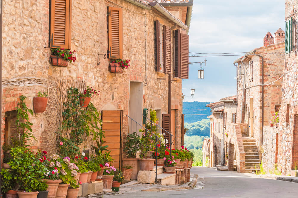 Medieval old town in Tuscany