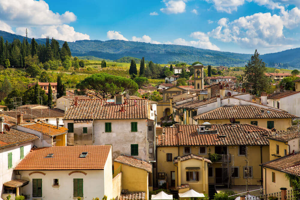 Cityscape of Greve in Chianti, Tuscany