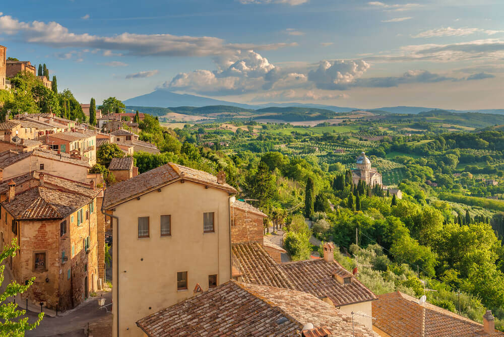 Tuscany seen from the walls of Montepulciano