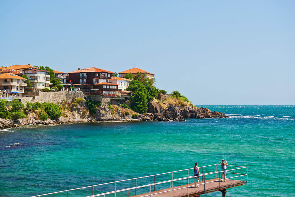 The seaside resort of Sozopol in Bulgaria