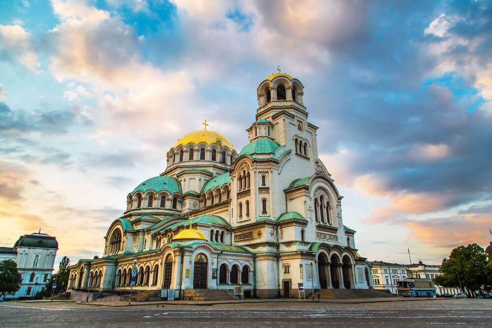 St. Alexander Nevsky Cathedral in the center of Sofia