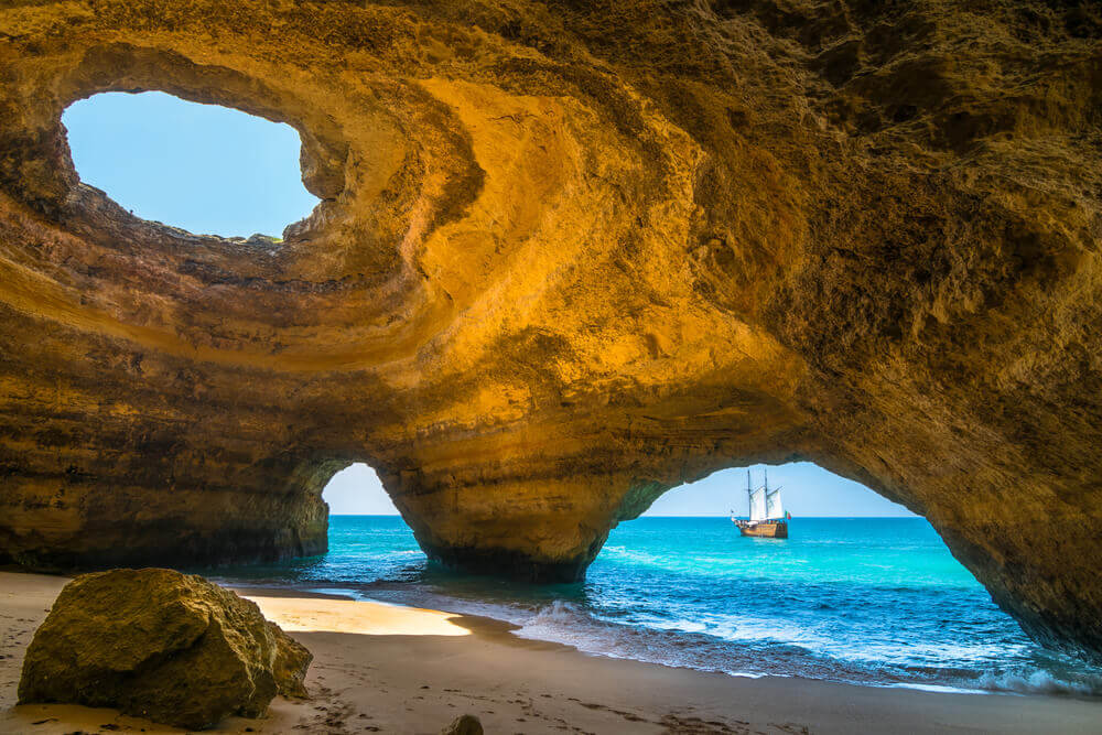 Seaside cave, Benagil Beach, Portugal