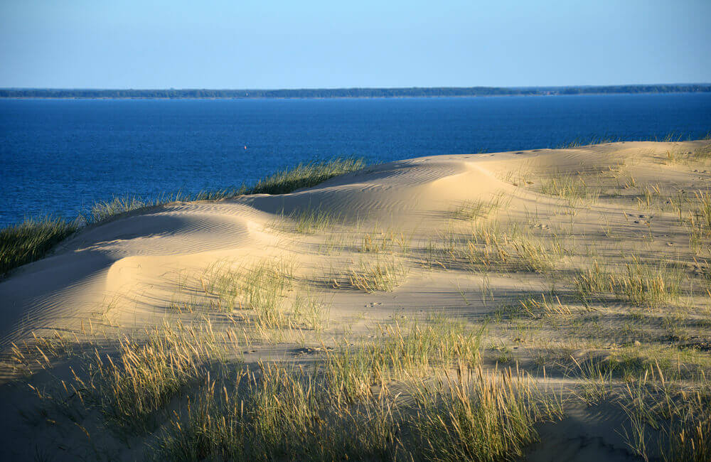 Sand dunes of Curonian Spit, Lithuania, beach getaway