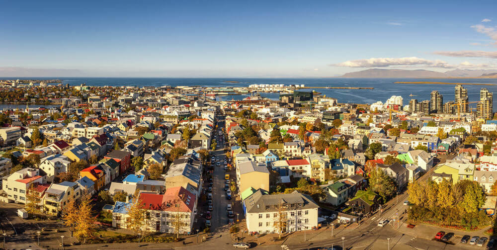 Cityscape of Reykjavik, Iceland. Europe trip planner tool