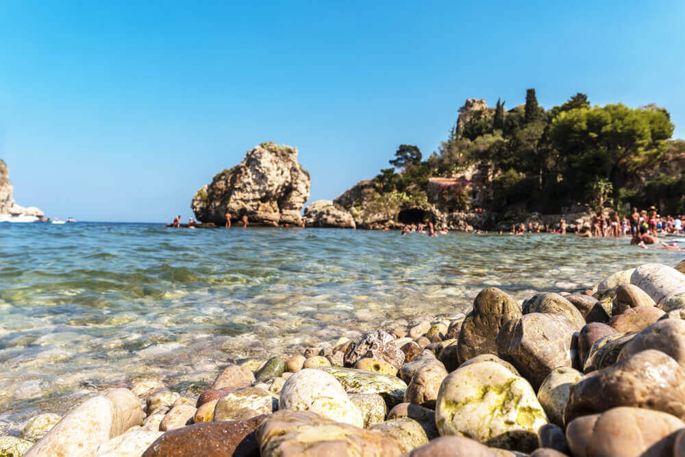 Rocky beach in Sicily, Italy. Europe trip planner tool