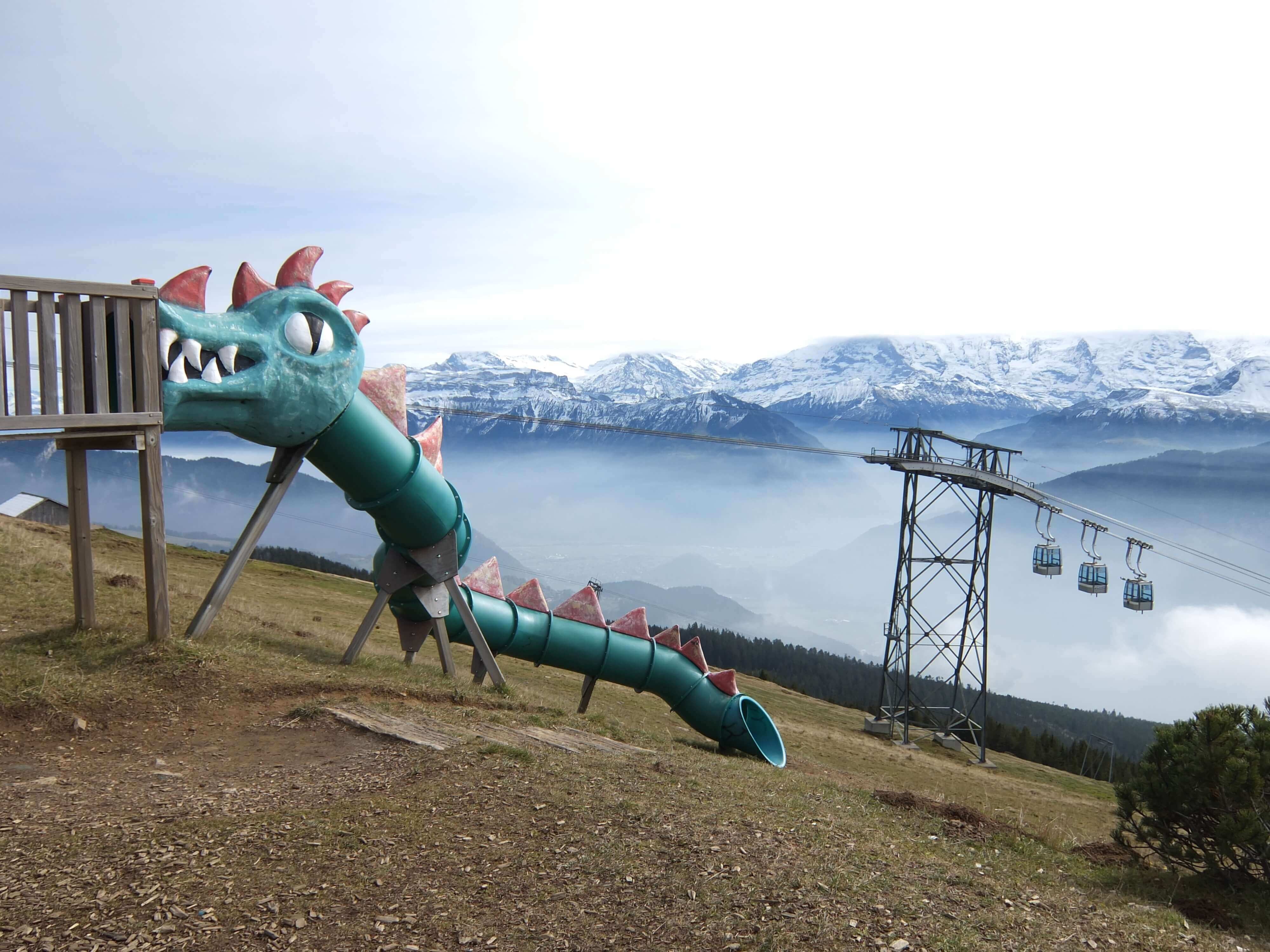Slide on top of the Niederhorn