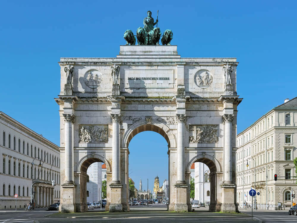 Siegestor - the Triumphal Arch, Munich