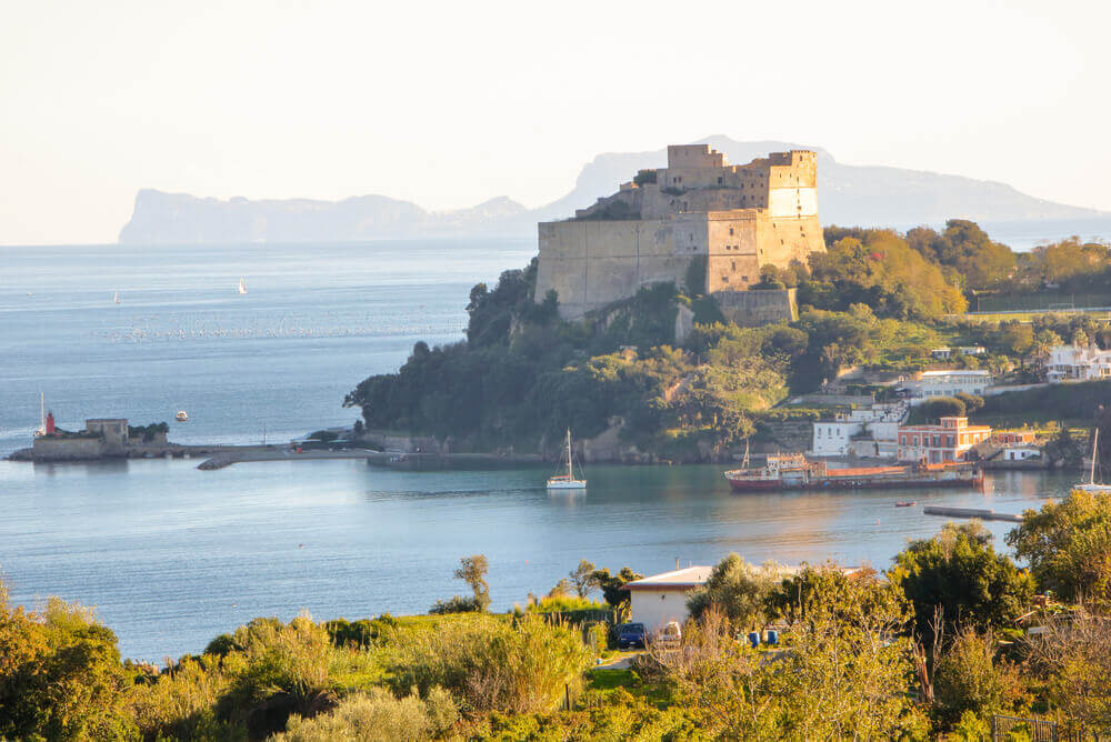 Aragon castle at Baia, Pozzuoli, Naples. attractions in Italy
