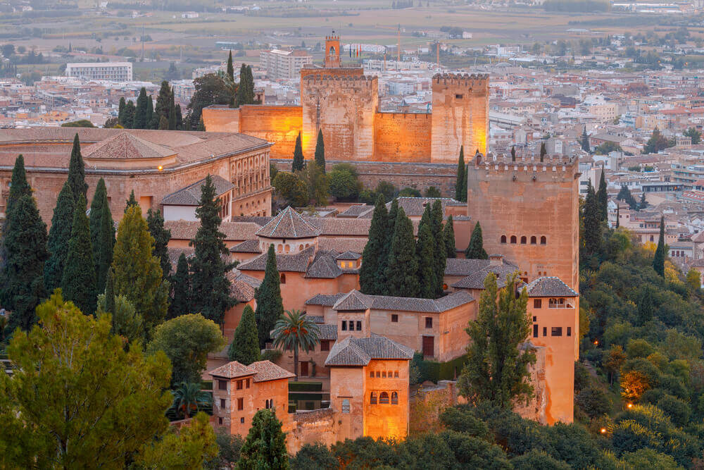 Granada. The fortress and palace complex Alhambra. tapas in spain
