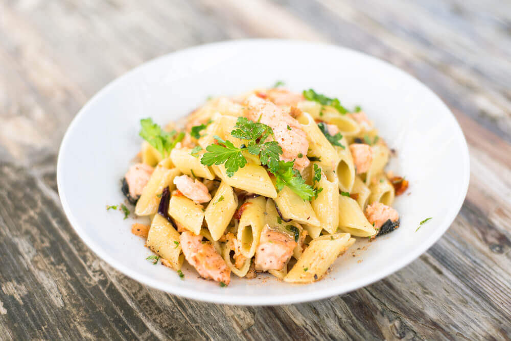 Italian Pasta with Salmon. attractions in Italy
