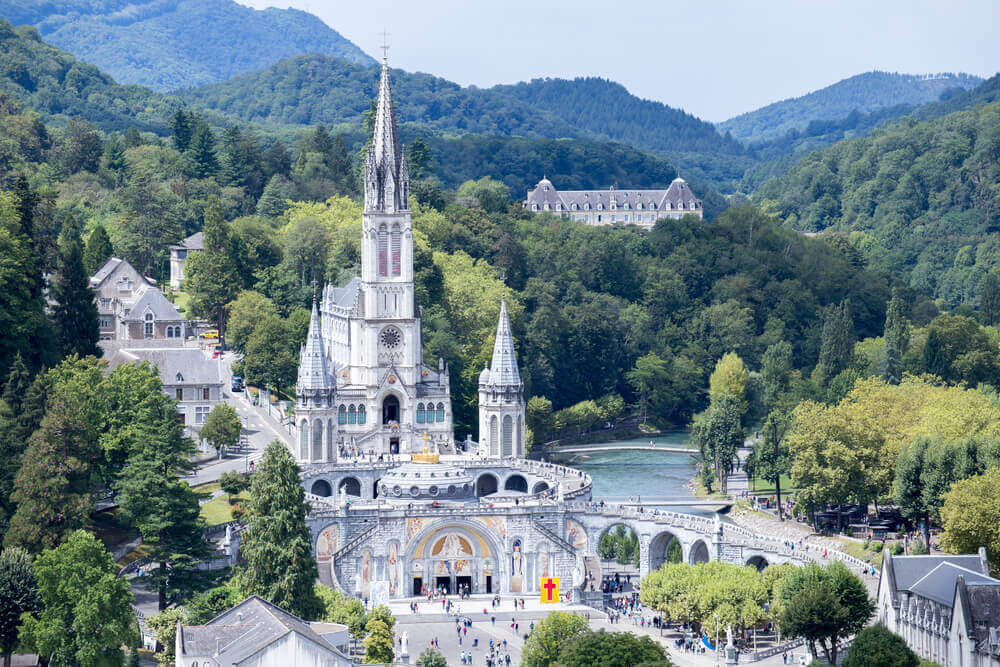The Basilica of Our Lady of the Rosary, Lourdes, France