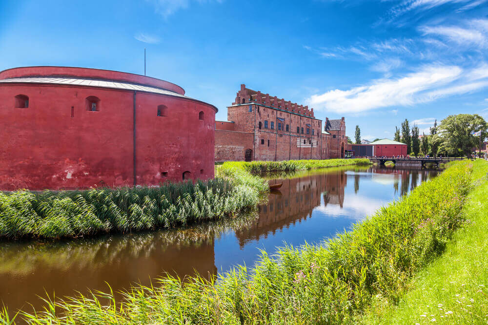 trip to Sweden. Malmo Castle or Malmohus slott in Malmo, Southern Sweden, Scandinavia