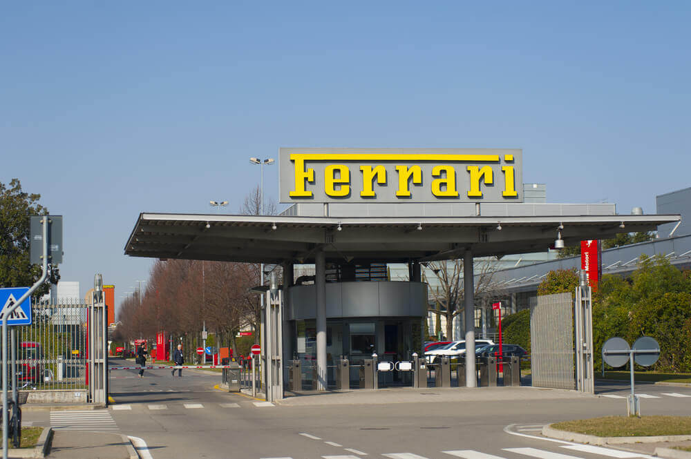 planning a trip to Italy. MARANELLO, ITALY - MARCH 14, 2015 Ferrari Tourist visit at Ferrari factory. Ferrari is the Italian excellence.