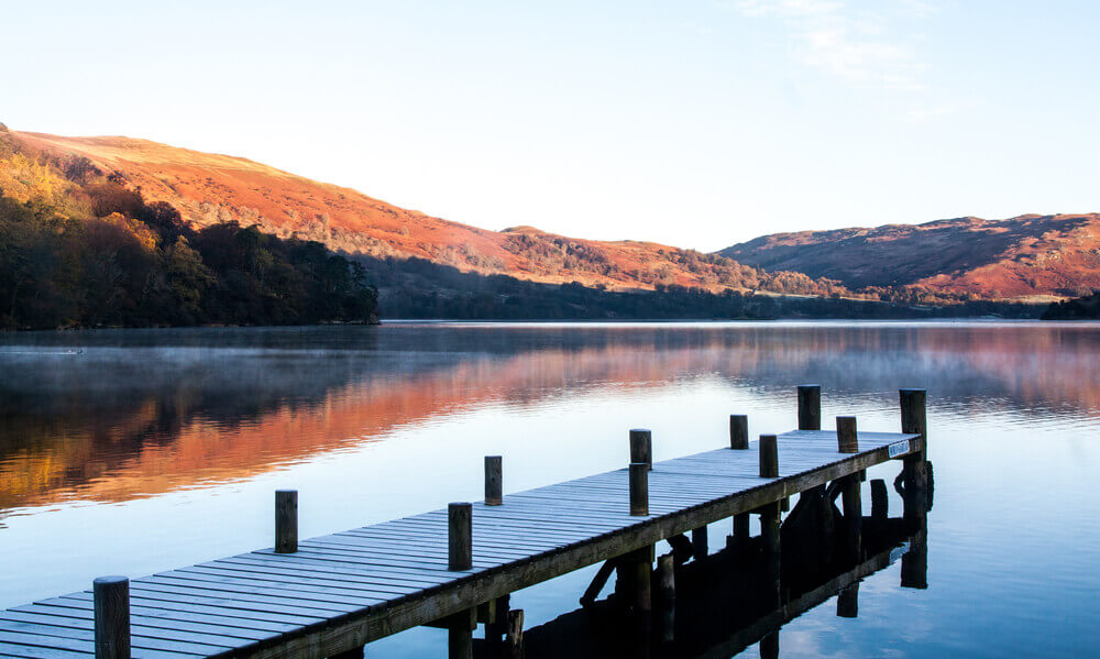 trip to England. Ullswater Jetty Reflections
