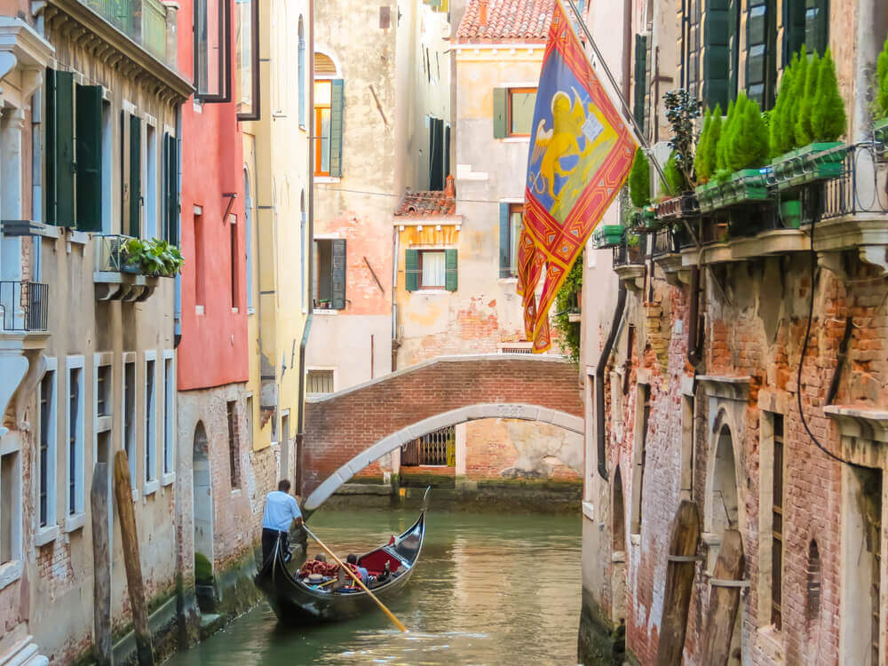 Venetian channel with ancient houses
