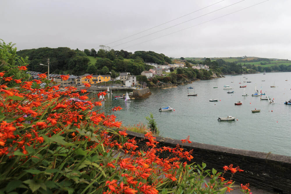 plan my route. Glandore village in South west Ireland