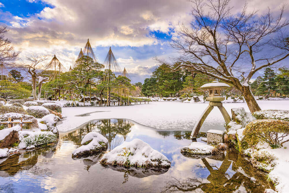 Kanazawa, Japan at Kenrokuen garden in winter. touring plans