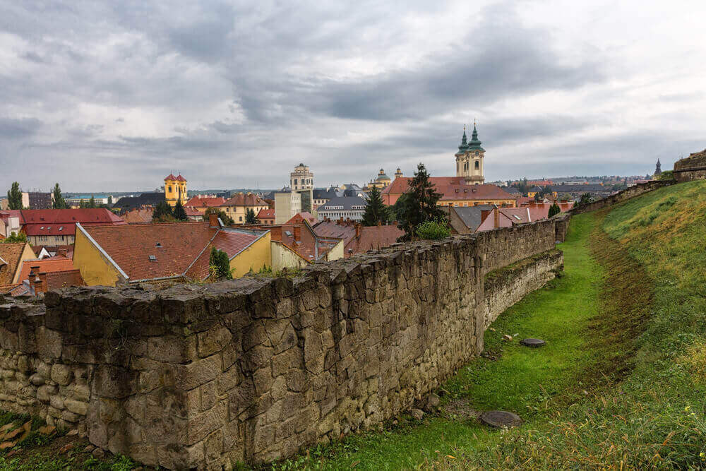road trip map. Old castle, Eger, Hungary