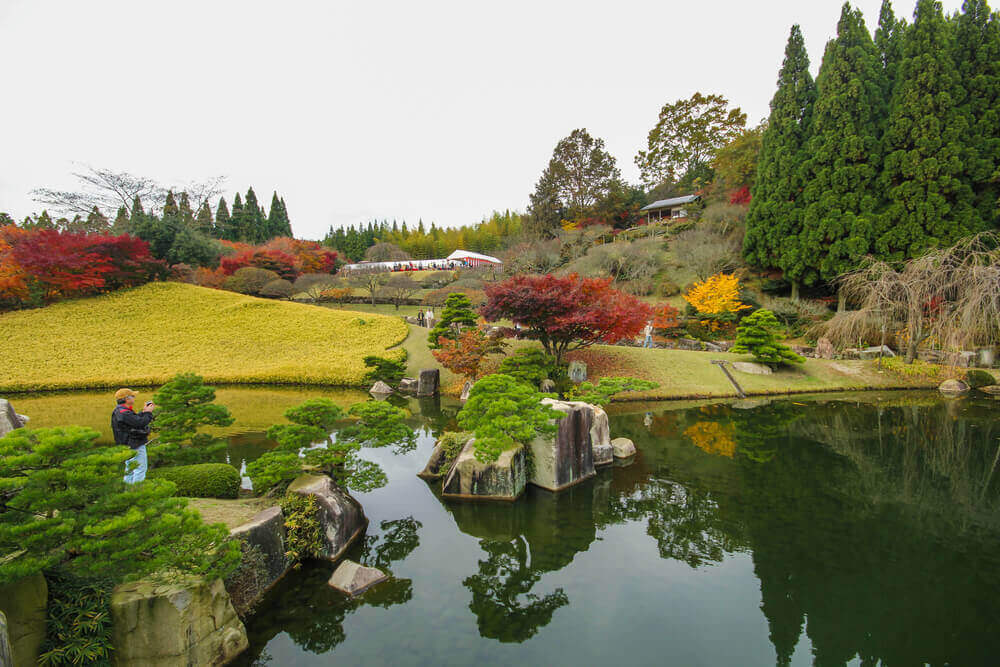 Sankeien Japanese Garden Park in autumn with maple leaves at. touring plans.