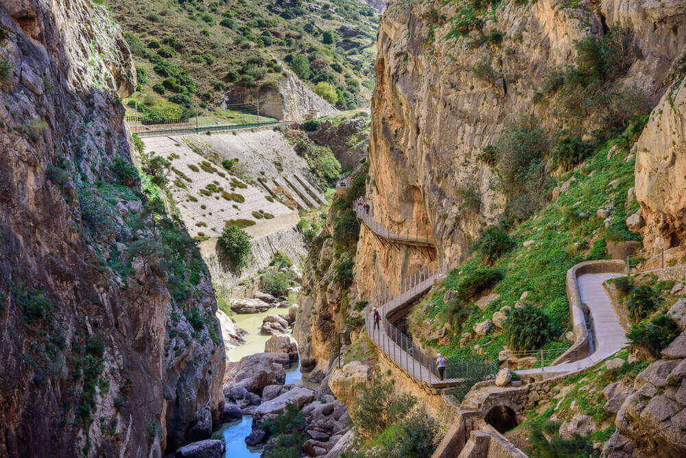 Caminito del Ray walking trail and via ferrata through the canyon. Spain. planning a trip to Spain