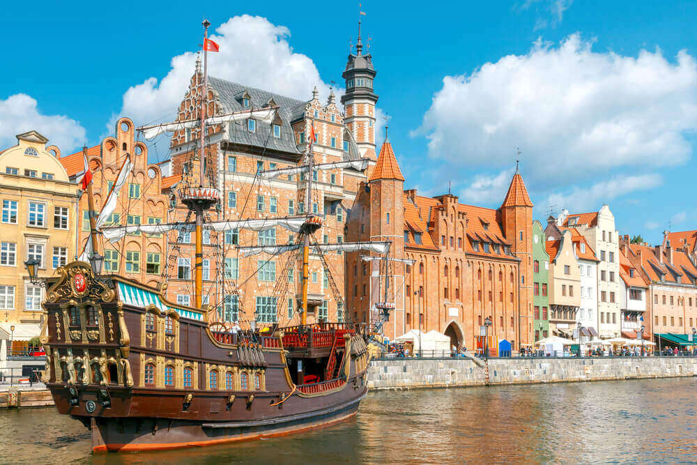 Gdansk. Central embankment. European trip.