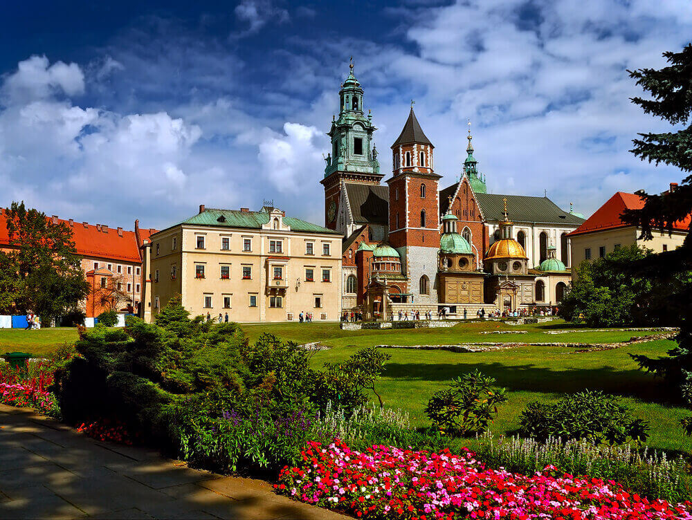 historic castle in the old city of Krakow. European trip.