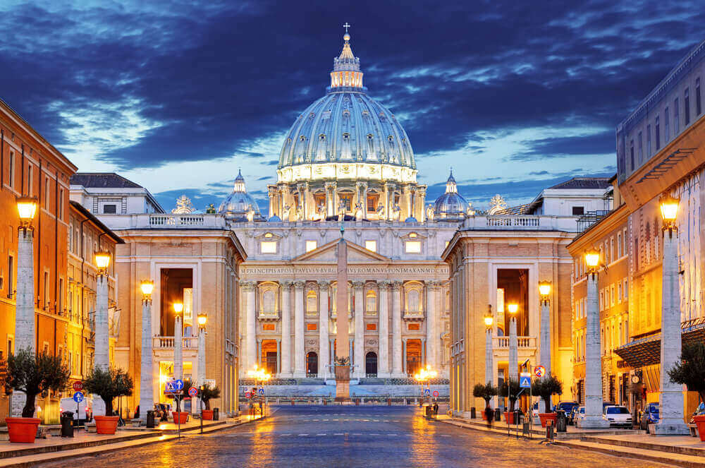 The Papal Basilica of Saint Peter in the Vatican (Basilica Papale di San Pietro in Vaticano). vacation planner