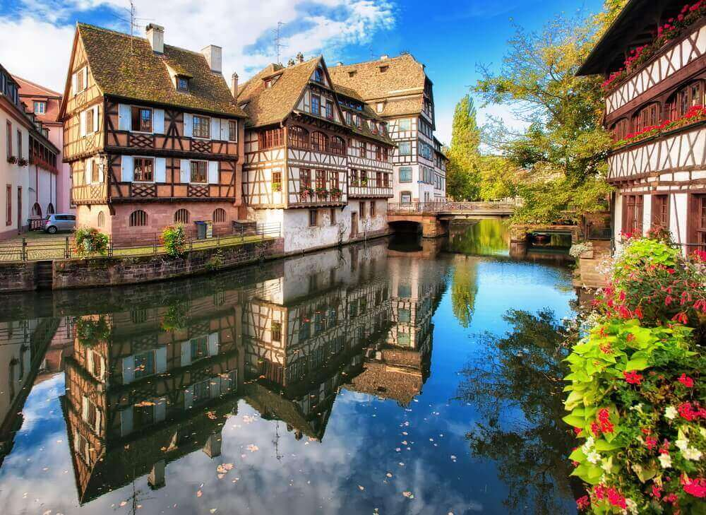 Traditional half-timbered houses in La Petite France, Strasbourg, Alsace, France. vacation planner