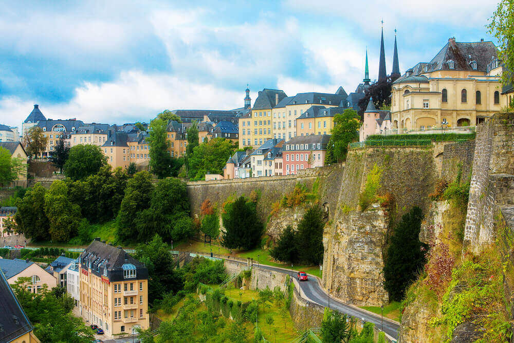 View from the Casemates on old Luxembourg City. vacation planner