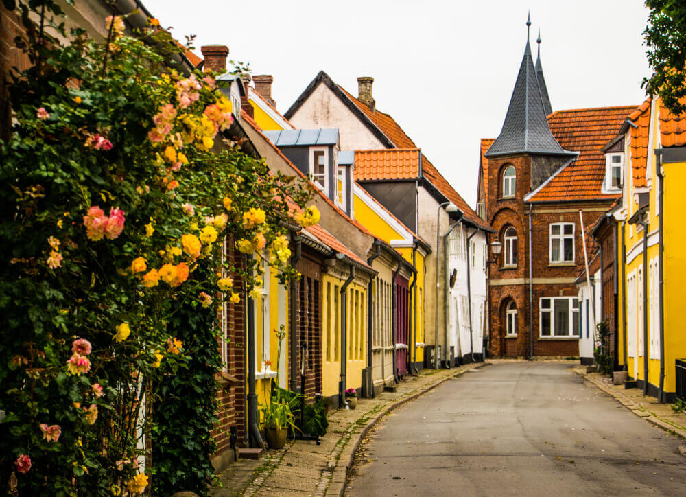 the medieval village of Ribe in Denmark viking tour