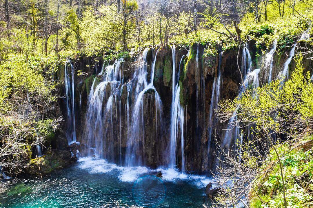 Waterfalls in Plitvice National Park, Croatia. Cheap holiday to Croatia.