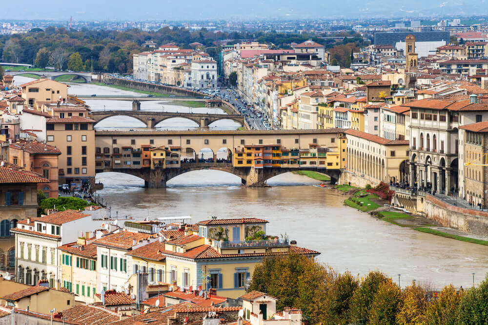 Ponte Vecchio, Florence. Italy in September