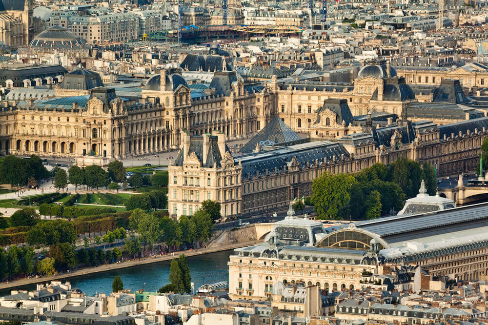 Scenic view of the Louvre Museum on your trip to Paris